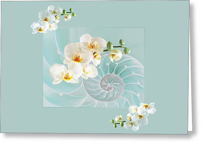 Nature Fusion Greeting Cards - Turquoise Fusion Greeting Card by Gill Billington