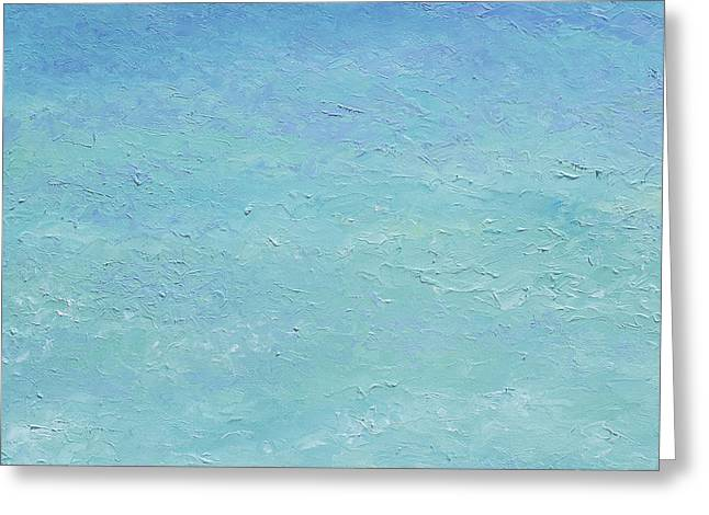 Ocean Art. Beach Decor Greeting Cards - Turquoise ocean 1 Greeting Card by Jan Matson