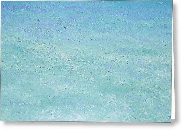 Ocean Art. Beach Decor Greeting Cards - Turquoise Ocean 3 Greeting Card by Jan Matson