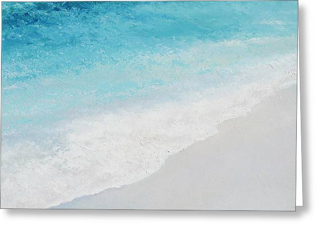 Bathroom Prints Greeting Cards - Turquoise Ocean 4 Greeting Card by Jan Matson