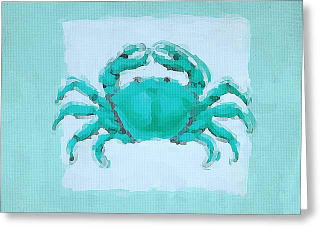 Beach Decor Paintings Greeting Cards - Turquoise Seashells I Greeting Card by Lourry Legarde