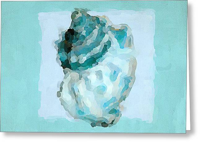 Sea Shell Art Paintings Greeting Cards - Turquoise Seashells VI Greeting Card by Lourry Legarde