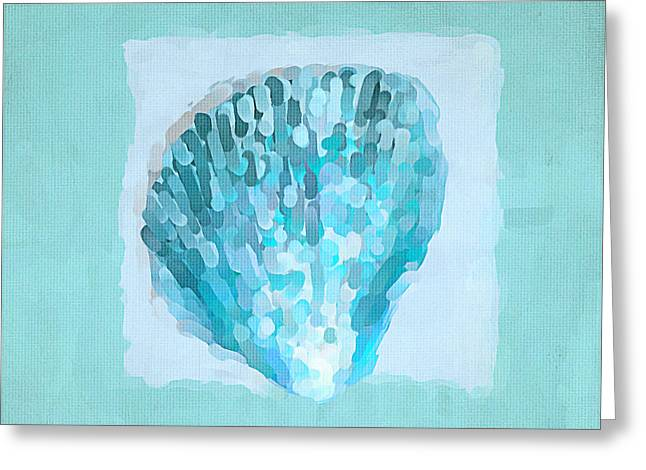 Shell Texture Greeting Cards - Turquoise Seashells VII Greeting Card by Lourry Legarde