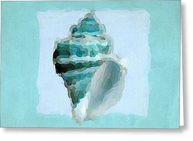 Shell Pattern Greeting Cards - Turquoise Seashells VIII Greeting Card by Lourry Legarde