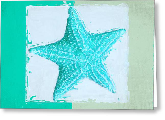 Shell Pattern Greeting Cards - Turquoise Seashells XI Greeting Card by Lourry Legarde