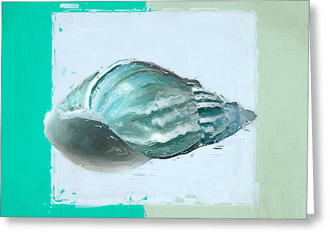 Shell Texture Greeting Cards - Turquoise Seashells XIV Greeting Card by Lourry Legarde