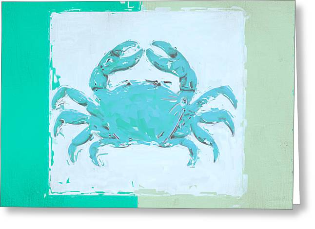 Beach Decor Paintings Greeting Cards - Turquoise Seashells XV Greeting Card by Lourry Legarde