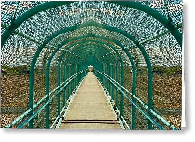 Engulfing Greeting Cards - Turquoise Tunnel Greeting Card by Don Durante Jr
