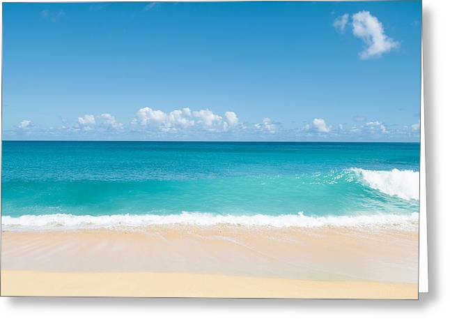 Beach Photographs Greeting Cards - Turquoise wave Greeting Card by Nastasia Cook
