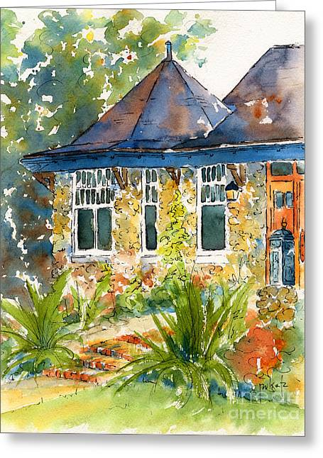Turret House Greeting Card by Pat Katz