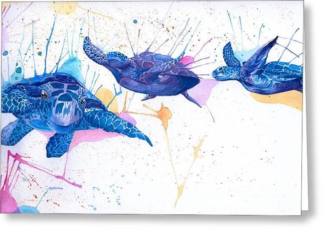 Turtle Flight Greeting Card by Hannah Circenis