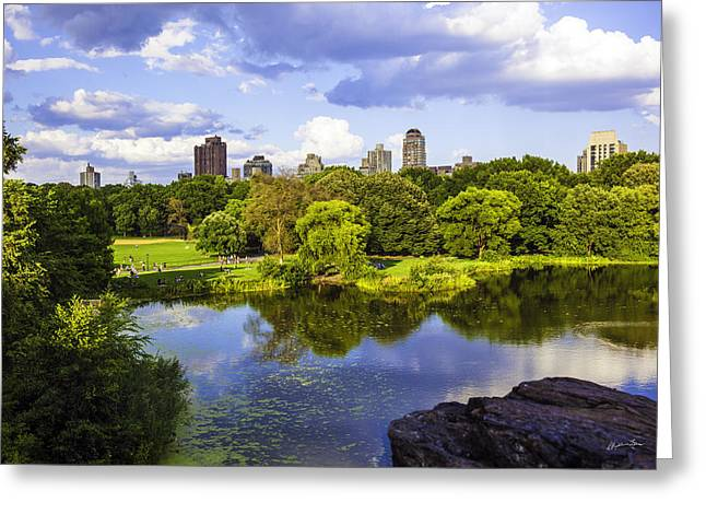 New York Vista Greeting Cards - Vista Rock View 2  - Central Park - Manhattan Greeting Card by Madeline Ellis