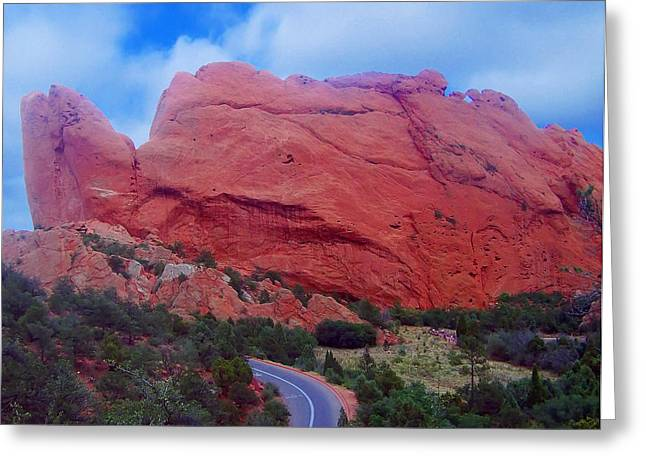 Landscape Posters Greeting Cards - Turtle Rock Formation Greeting Card by Chris Flees