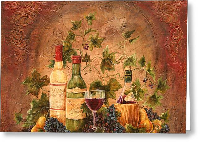 Grape Vine Greeting Cards - Tusacn Treasures Greeting Card by Jean Plout