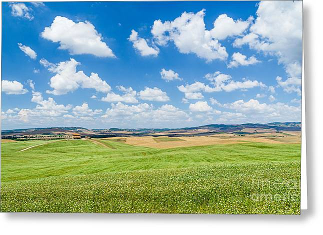 Tuscan Hills Greeting Cards - Tuscan Beauty Greeting Card by JR Photography