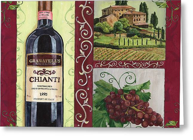 Vegetarian Greeting Cards - Tuscan Collage 1 Greeting Card by Debbie DeWitt