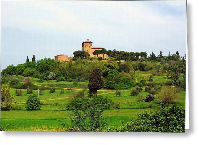 Montepulciano Greeting Cards - Tuscan Countryside Greeting Card by Ellen Henneke