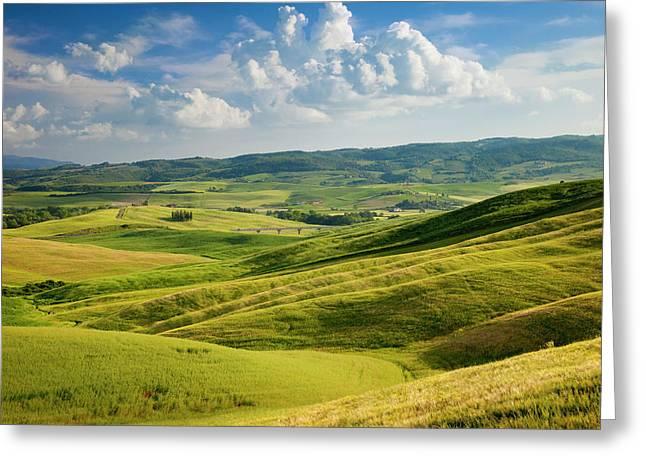 Tuscan Countryside Near San Quirico Greeting Card by Brian Jannsen