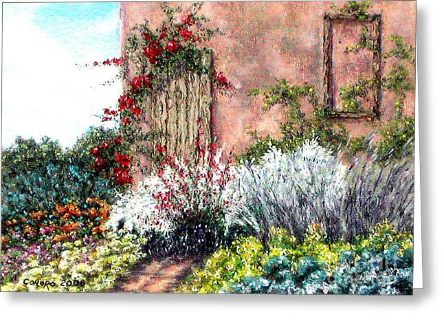 Loneliness Pastels Greeting Cards - Tuscan Delusions Greeting Card by Stanza Widen