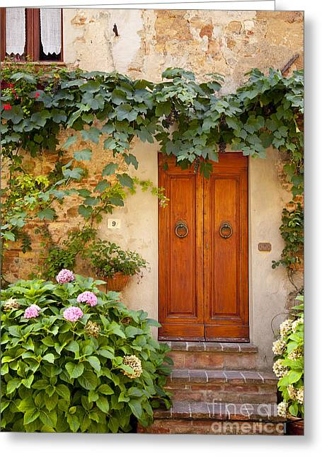 Tuscan Door Greeting Card by Brian Jannsen