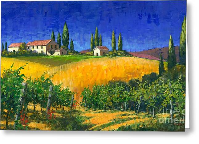 Michael Swanson Greeting Cards - Tuscan Evening Greeting Card by Michael Swanson
