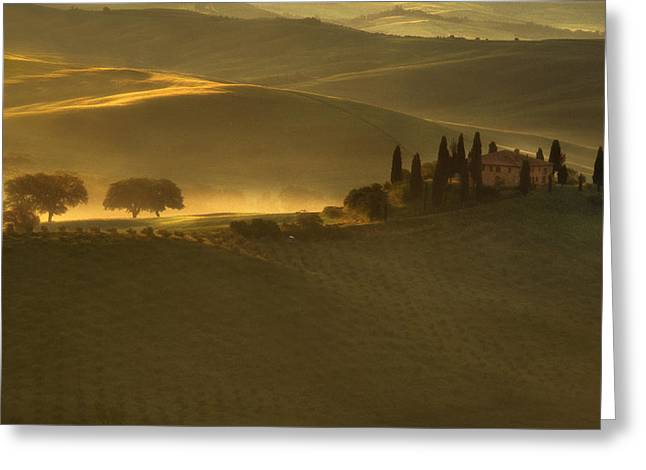 Belvedere Greeting Cards - Tuscan Farmhouse Greeting Card by Andrew Soundarajan