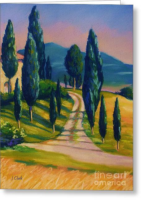 D Pastels Greeting Cards - Tuscan Glow Greeting Card by John Clark