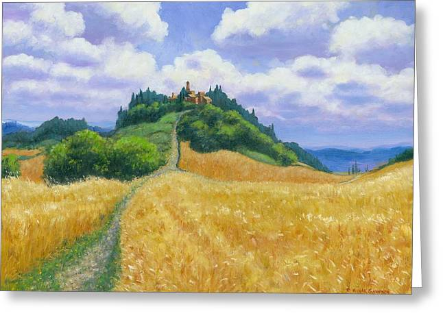 Chianti Greeting Cards - Tuscan High 24 x 30 Greeting Card by Michael Swanson
