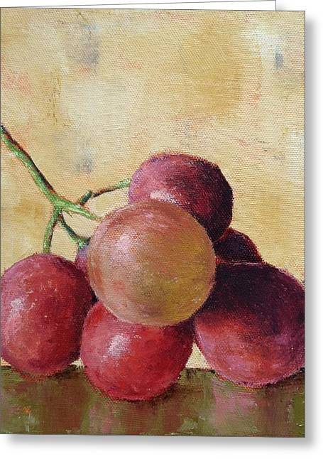 Happy Hour Greeting Cards - Tuscan Red Globe Grapes Greeting Card by Pam Talley