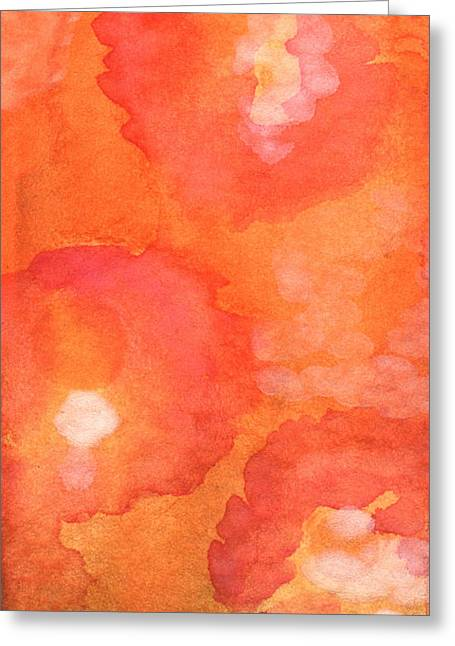 Abstract Flower Greeting Cards - Tuscan Roses Greeting Card by Linda Woods