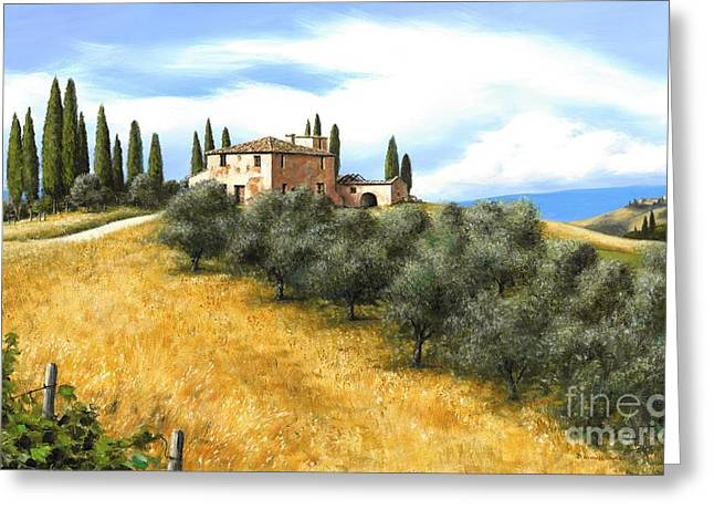 Tuscan Sentinels Greeting Card by Michael Swanson