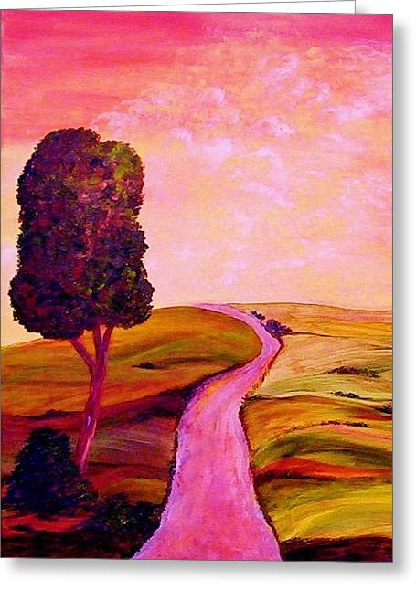 Tuscan Skies ... An Impressionist View Greeting Card by Eloise Schneider