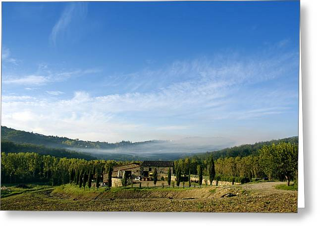 Norman Pogson Greeting Cards - Tuscan Sky Greeting Card by Norman Pogson