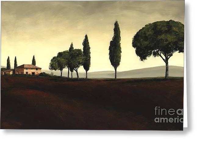 Best Sellers -  - Tuscan Sunset Greeting Cards - Tuscan Style  Greeting Card by Michael Swanson