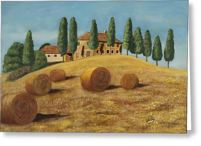 Tuscan Hills Greeting Cards - Tuscan sunshine Greeting Card by Fernando Barozza