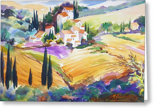 Therese Fowler-bailey Greeting Cards - Tuscan Villas and Fields Greeting Card by Therese Fowler-Bailey
