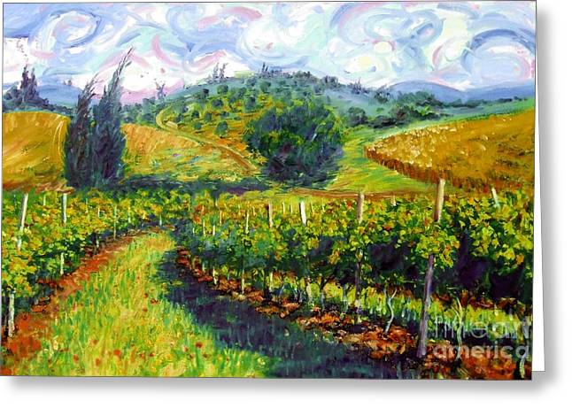 Impressionism Greeting Cards - Tuscan Wind Greeting Card by Michael Swanson
