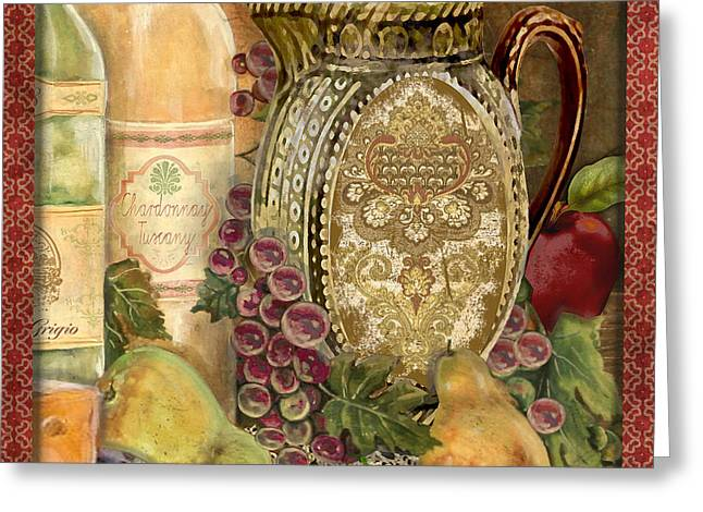 Recently Sold -  - Acrylic Art Greeting Cards - Tuscan Wine-D Greeting Card by Jean Plout