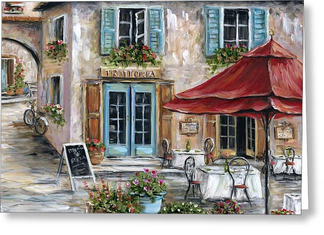 Italian Restaurants Greeting Cards - Tuscan Trattoria Greeting Card by Marilyn Dunlap