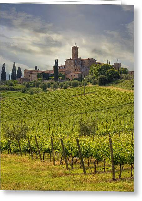 Brunello Greeting Cards - Tuscany - Castello di Poggio alla Mura Greeting Card by Joana Kruse