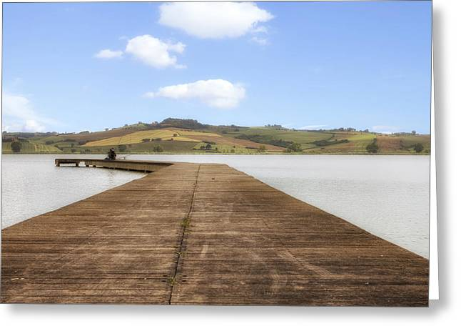 Lago Greeting Cards - Tuscany - Lago di Chiusi Greeting Card by Joana Kruse