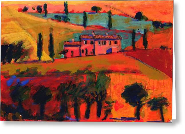 Warm Tones Greeting Cards - Tuscany Greeting Card by Paul Powis