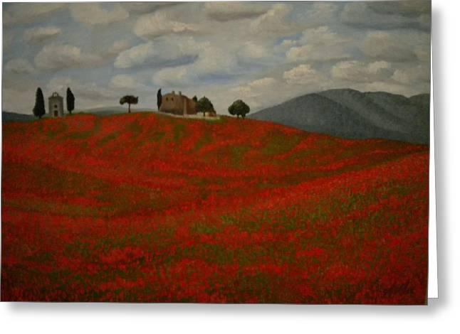 Tuscany Greeting Card by Abigail Avila