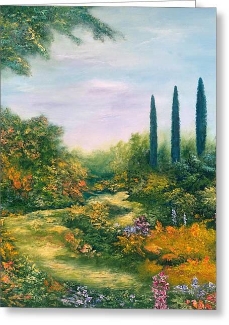 Vanishing Greeting Cards - Tuscany Atmosphere Greeting Card by Hannibal Mane