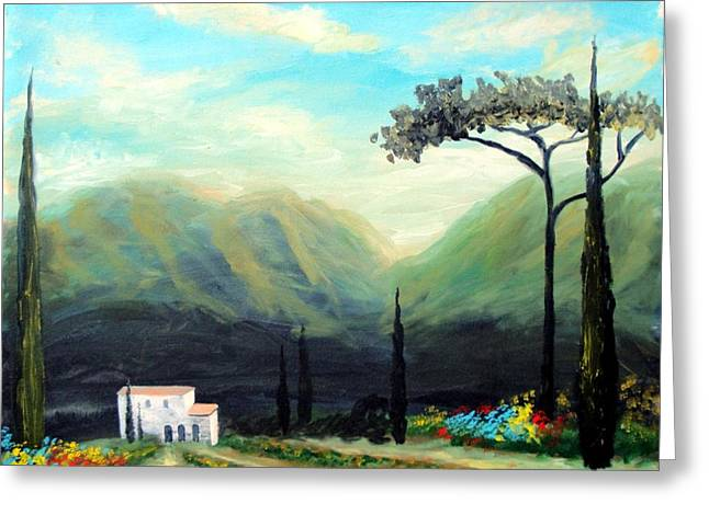 Tuscany Colors Greeting Card by Larry Cirigliano