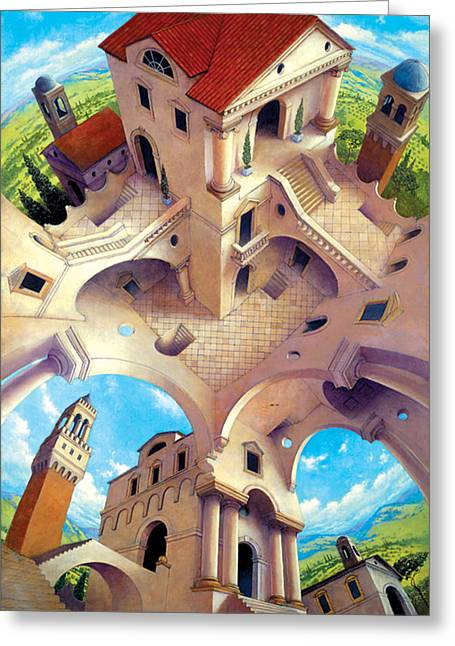 Impossible Greeting Cards - Tuscany I Greeting Card by Irvine Peacock