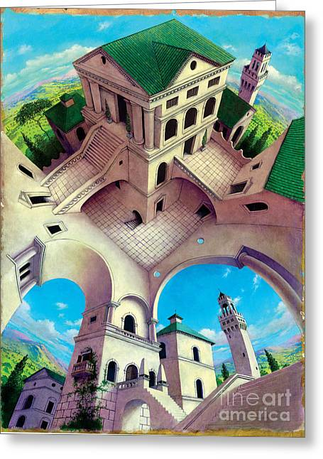 Impossible Greeting Cards - Tuscany II Greeting Card by Irvine Peacock