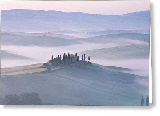 Obscure Greeting Cards - Tuscany, Italy Greeting Card by Panoramic Images
