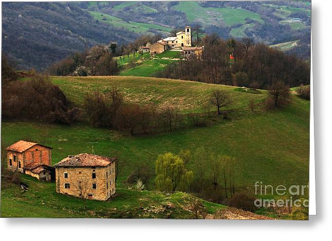 Landscapes Of Tuscany Greeting Cards - Tuscany Landscape 3 Greeting Card by Bob Christopher