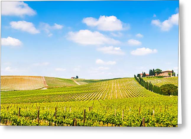 Chianti Greeting Cards - Tuscany landscape panorama Greeting Card by JR Photography